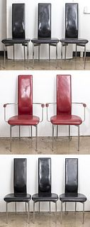 Vegni & Gualtierotti for Fasem Dining Chairs, 8
