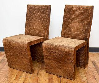 Frank Gehry Postmodern 'Easy Edges' Chairs, Pair