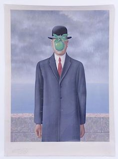 "MAGRITTE, Rene (After). Lithograph ""Le Fils De"