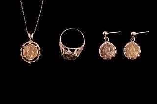 1865 Mexicano Emporador Wedding Gold Coin Jewelry