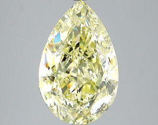 5.27 ct., Fancy Light Yellow/SI1, Pear cut diamond, unmounted, SH-0873