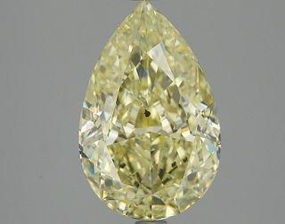 3.75 ct., Fancy Yellow/SI2, Pear cut diamond, unmounted, PK0243