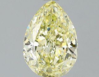 1.43 ct., Fancy Yellow/VS1, Pear cut diamond, unmounted, VM-2413