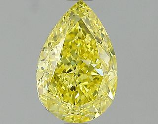 1.26 ct., Fancy Intense Yellow/VS1, Pear cut diamond, unmounted, IM-642-001-01
