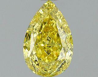 1.03 ct., Fancy Intense Yellow/IF, Pear cut diamond, unmounted, PK2271-01