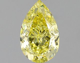 1.01 ct., Fancy Intense Yellow/VVS1, Pear cut diamond, unmounted, IM-627-002
