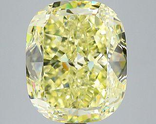 7.56 ct., Fancy Yellow/VS2, Cushion cut diamond, unmounted, SH-0790