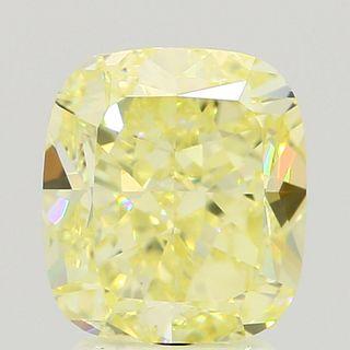 3.06 ct., Fancy Light Yellow/SI1, Cushion cut diamond, unmounted, BB-1679