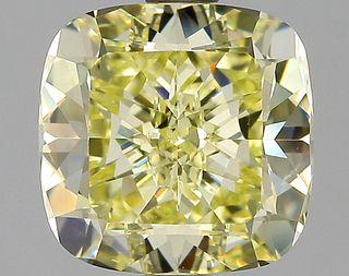 3.05 ct., Fancy Yellow/VS2, Cushion cut diamond, unmounted, PK1579