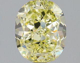 2.73 ct., Fancy Yellow/VVS1, Cushion cut diamond, unmounted, GAS-1009