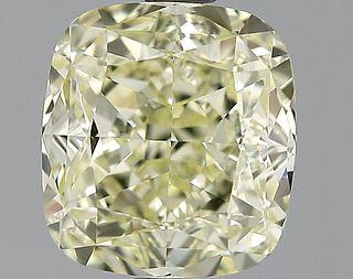 2.62 ct., Fancy Light Yellow/VVS2, Cushion cut diamond, unmounted, GM-0883