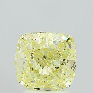 2.51 ct., Fancy Light Yellow/VS2, Cushion cut diamond, unmounted, VM-0989