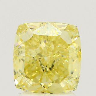 2.42 ct., Fancy Intense Yellow/VS2, Cushion cut diamond, unmounted, SH-0532