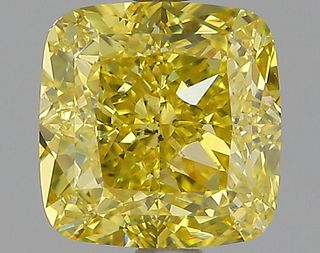 2.34 ct., Fancy Intense Yellow/SI1, Cushion cut diamond, unmounted, PP8223-04