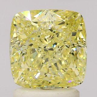 2.16 ct., Fancy Yellow/SI1, Cushion cut diamond, unmounted, SH-0376