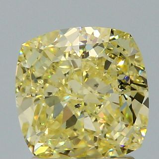 2.13 ct., Fancy Yellow/SI1, Cushion cut diamond, unmounted, SH-0139
