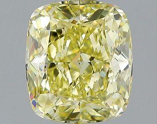 2.02 ct., Fancy Yellow/VS1, Cushion cut diamond, unmounted, GM-0860