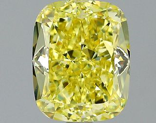 2.02 ct., Fancy Intense Yellow/VS2, Cushion cut diamond, unmounted, PK2260