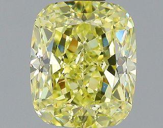 1.79 ct., Fancy Yellow/SI1, Cushion cut diamond, unmounted, GM-0863