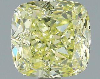 1.68 ct., Fancy Yellow/VS1, Cushion cut diamond, unmounted, PK0382-13