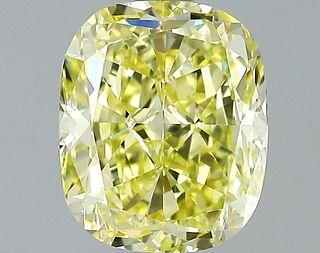 1.65 ct., Fancy Yellow/VVS1, Cushion cut diamond, unmounted, VM-2406