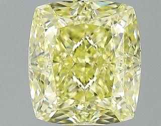 1.64 ct., Fancy Yellow/VS1, Cushion cut diamond, unmounted, PK2100-01