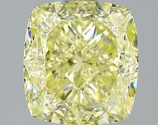 1.55 ct., Fancy Light Yellow/VVS2, Cushion cut diamond, unmounted, SH-0888