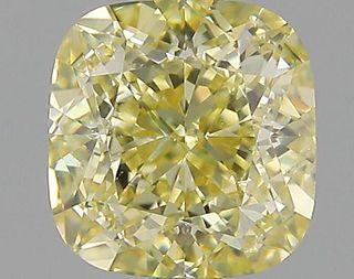 1.52 ct., Fancy Yellow/SI1, Cushion cut diamond, unmounted, P9769-02