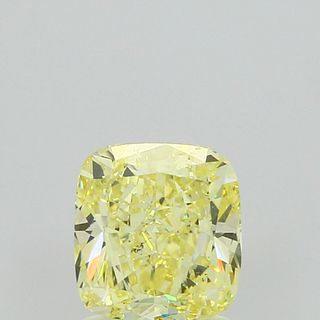 1.51 ct., Fancy Yellow/SI1, Cushion cut diamond, unmounted, PP4170-45-S