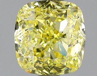 1.5 ct., Fancy Yellow/SI1, Cushion cut diamond, unmounted, GM-0902
