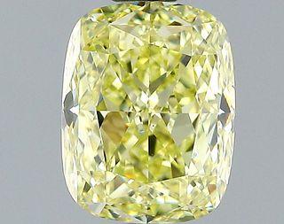 1.41 ct., Fancy Light Yellow/VS1, Cushion cut diamond, unmounted, SH-0803
