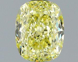 1.39 ct., Fancy Yellow/VVS2, Cushion cut diamond, unmounted, PK2049