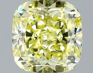 1.38 ct., Fancy Yellow/VS1, Cushion cut diamond, unmounted, GM-0919