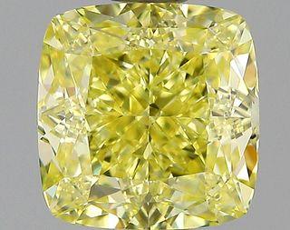 1.37 ct., Fancy Intense Yellow/VS1, Cushion cut diamond, unmounted, IM-487-001-40
