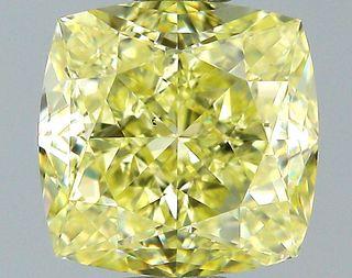 1.26 ct., Fancy Yellow/VS1, Cushion cut diamond, unmounted, SH-0871