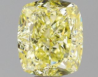 1.21 ct., Fancy Yellow/VVS2, Cushion cut diamond, unmounted, PK2100-17
