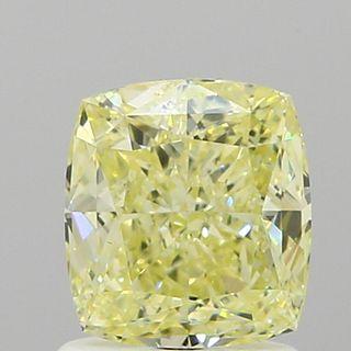 1.2 ct., Fancy Light Yellow/IF, Cushion cut diamond, unmounted, VM-1307