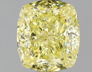 1.13 ct., Fancy Yellow/VVS2, Cushion cut diamond, unmounted, PK2100-15