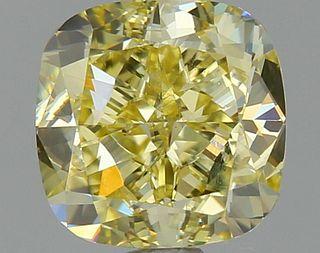 1.11 ct., Fancy Yellow/SI1, Cushion cut diamond, unmounted, YG-1716