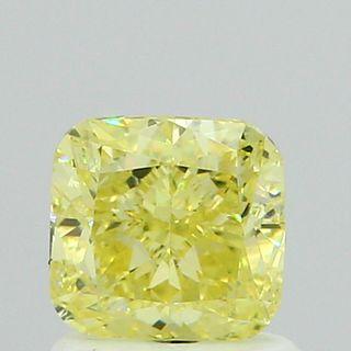 1.1 ct., Fancy Yellow/VS1, Cushion cut diamond, unmounted, IM-483-001-02