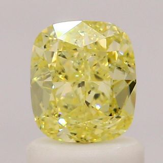 1.09 ct., Fancy Yellow/SI1, Cushion cut diamond, unmounted, IM-484-001-09