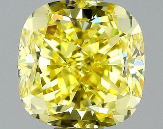 1.08 ct., Fancy Intense Yellow/VS1, Cushion cut diamond, unmounted, VM-2416