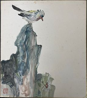 A Chinese Painting  Ink and Color on Paper by Wang Yachen