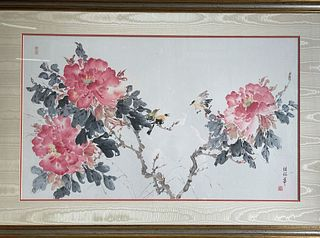 Chinese Painting Ink and Color on Paper by Zhong Baohua