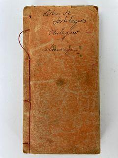 Guangxu 25 Years (1899) Perpetual Calendar Propitious Day Book