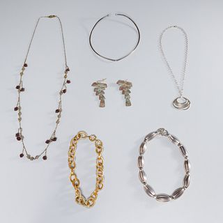 Group sterling silver and designer costume jewelry