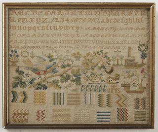 Needlework Sampler dated 1832