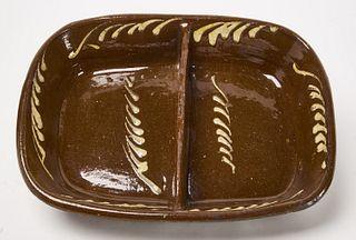 Antique English Slipware Serving Dish