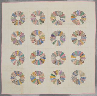Two Dresden Plate Quilts