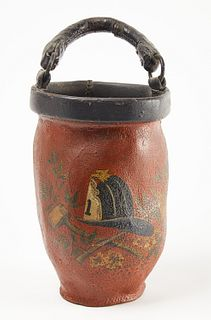 Fire Bucket with Old Paint